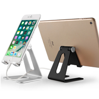 2019 amazon top seller desktop adjustable smartphone and tablet display stand folding metal mobile phone support