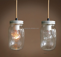 Modern Home Decor Restaurant Simple Fixture Suspension Clear Glass Bottle Pendant Night Light with Wire Hanging for Christmas