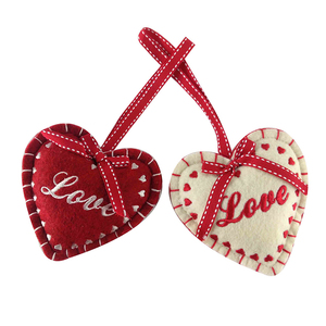 Shangyi Home Stock wholesale new personalized home decoration heart shape christmas ornament