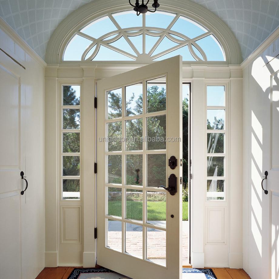 ויקטוריאני 15 לייט זכוכית דלת כניסה עם קשת עליונה צרפתית