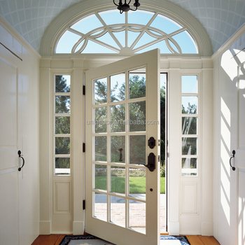 Victorian 15 Lite Glass French Entry Door With Arch Top