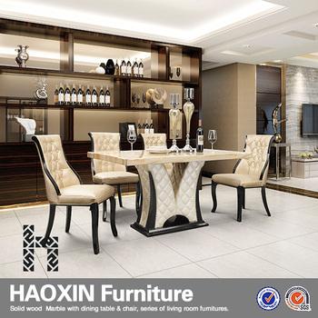 Etonnant Qualité Rotin Intérieur Marbre Table Et Chaises Patio Loisirs Restaurant  Salle à Manger Ensemble Avec Des