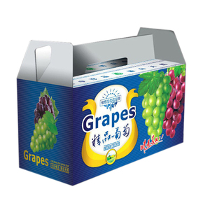 Custom Colored Printed Corrugated Carton Boxes For Pineapple With Handle For Fruit Packaging