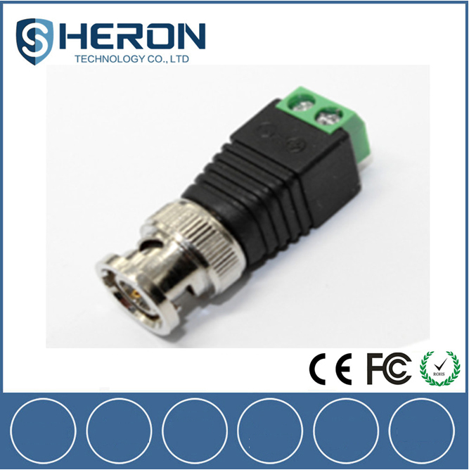 CCTV camera BNC balun video connector coax cat5e for Security monitoringAdapter for CCTV