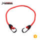 Mini adjustable flat elastic bungee cord with heat treated steel twin wire hooks
