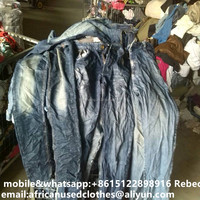 used clothing / big size men jeans, fashion used clothing, bales used clothes