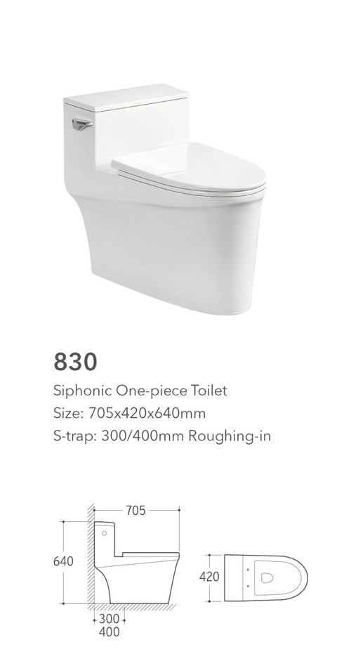 830 Foshan Meiyujia Best Sale White Ceramic One Piece waterless toilet