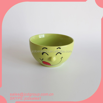 Cartoon Face Ceramic Bowl
