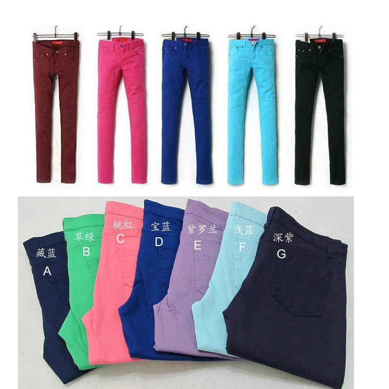 Cheap Colored Skinny Jeans, Cheap Colored Skinny Jeans Suppliers ...