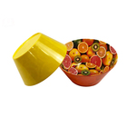 Custom Logo Yellow Melamine Plastic Candy Bowl