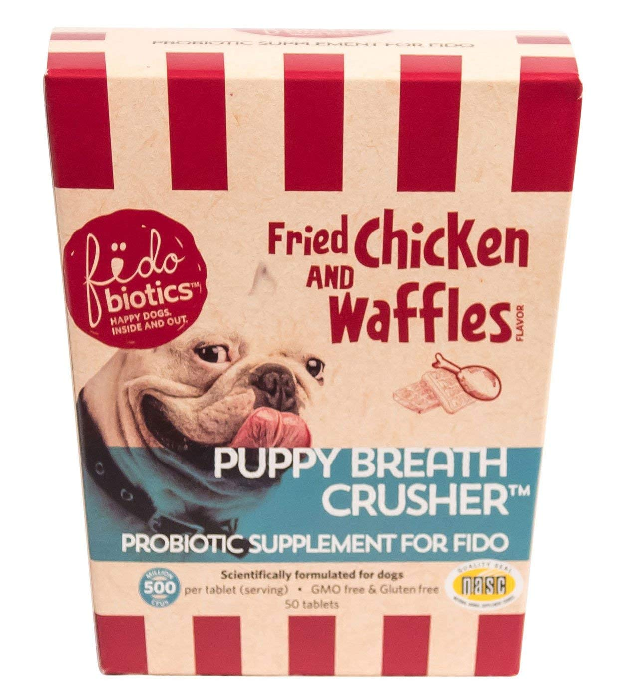 Puppy Breath Crusher By Fidobiotics - Best Dog Breath Freshener - Natural Dog Breath Treat - Helps With Bad Dog Breath