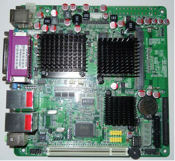 Zc-n270dl Intel Fanless Motherboard With Vga,Lvds Onboard,2*lan  Port,2*sata,1*pci,1*lpt Mini Itx Motherboard,Dc-12v Main Board - Buy  Motherbard With 2