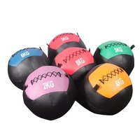 New design double color leather medicine slam ball for sale