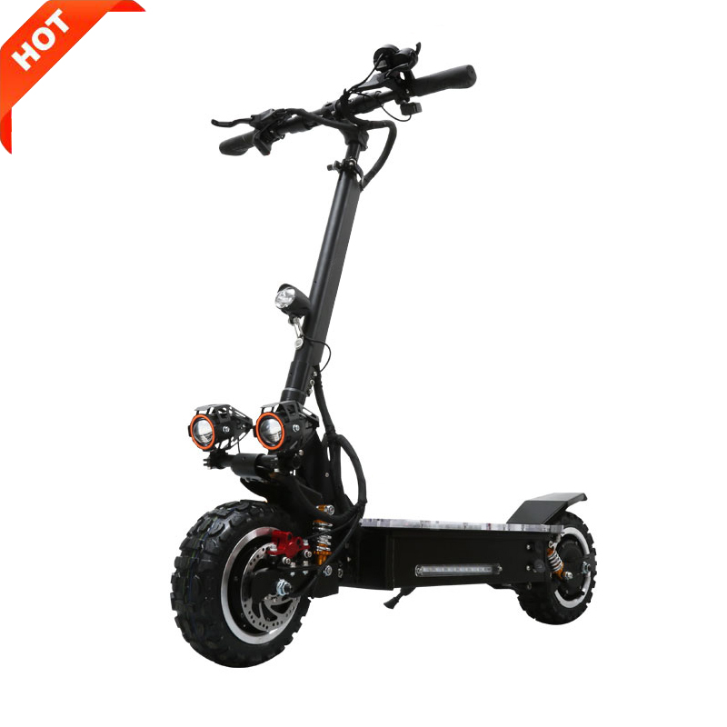 MAIKE KK4S 60v two wheel foldable dual motor fat tire off road cheap 3200w electric scooter for adults