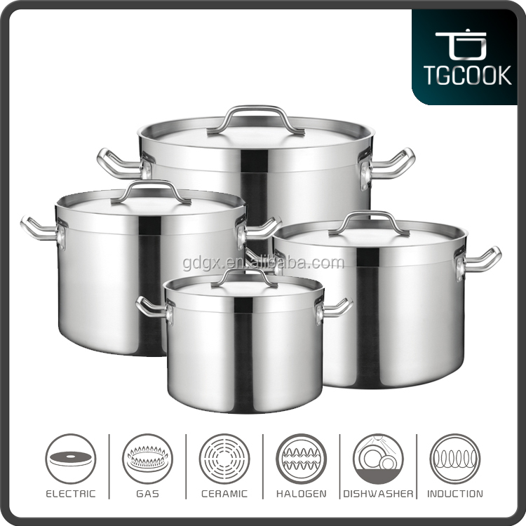 100L capacity stainless steel stock pots