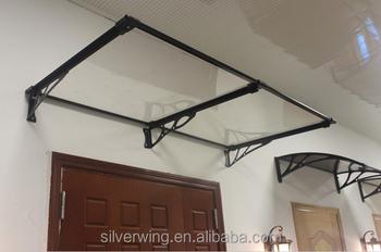 Silver Wing 124 x 80 cm Outdoor Garden Aluminum metal Door Canopy Terrace roof Canopy Awning & Silver Wing 124 X 80 Cm Outdoor Garden Aluminum Metal Door Canopy ...