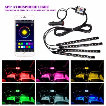 frankever nieuwe mobiele telefoon app controle auto verlichting interieur auto led sfeer