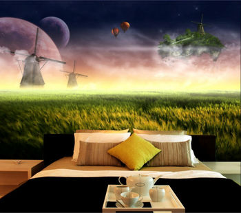 space sky landscape design wallpaper mural for ceiling