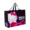 sweet style high quality printing lovely hello kitty pattern black boutique use china wholesale pp woven shopping bag