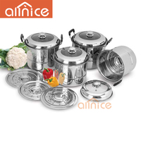 Cheap price good used large cooking pot palm restaurant cookware/stainless steel restaurant induction cooker