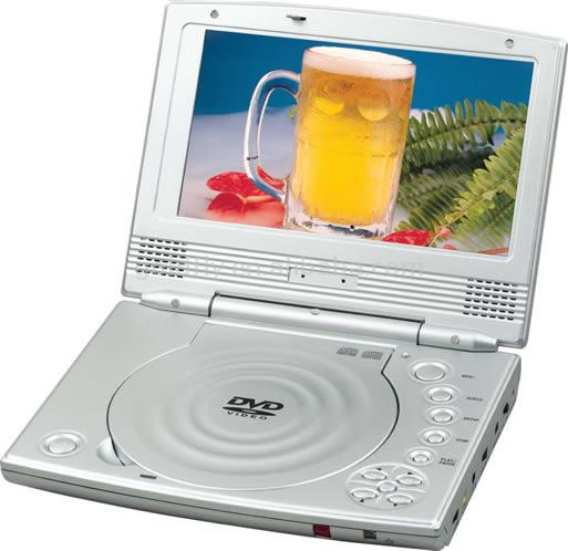 "Portable DVD Player with 7"" TFT-LCD"