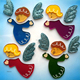 Children gel window cling jelly rubber non-toxic sticker home decoration stickers