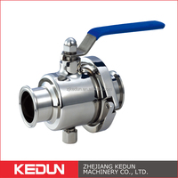 Food Grade SS304 316L Quick Install Stainless Steel Ball Valve 3 Inch