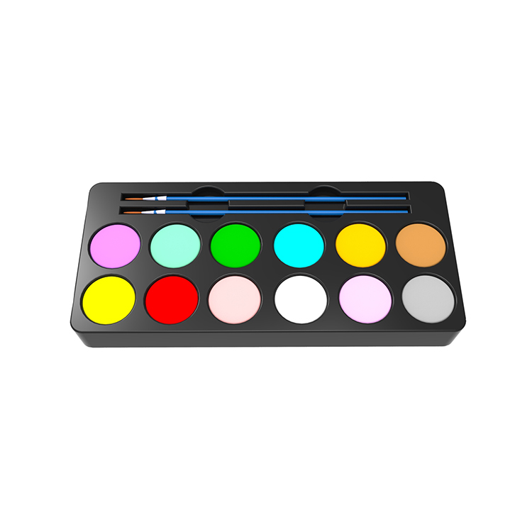 Alibaba.com / LOW MOQ multi color face paint supplier, Washable non-toxic 12color face painting palette with body tattoo stencil