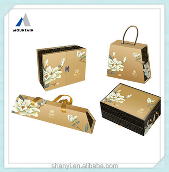 Mountain Luxury Creative Design Paper Box For Mooncake Packaging