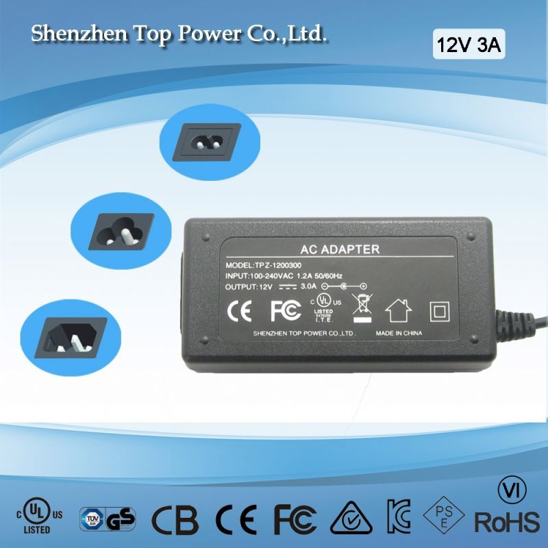 12V 3A 36W power adapter t8 to t5 adapter adaptor