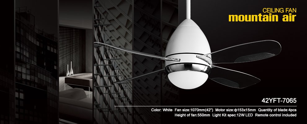 new decorative 42'' ceiling fan with ABS blade and LED light