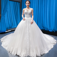 RSM66553 sexy sweetheart elegant ball gown lace empire ball gown long train