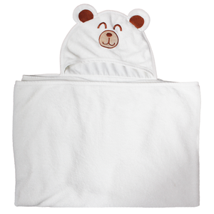 2018 custom/wholesale plain Machine wash Absorbent bamboo baby hooded towel