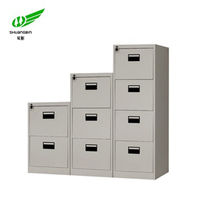 Colourful vertical mobile cabinet metal 2 3 4 layer index card box storage filing cabinet