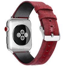 38 мм 42 мм нейлоновый холщовый ремешок для часов Apple Watch 123 Повседневная простая замена унисекс-браслет для Apple Watch Series 3 2 1(Китай)