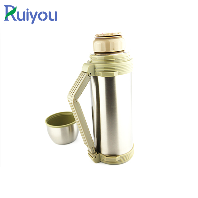Custom logo 1.2L wide mouth stainless steel travel vacuum pot