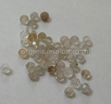 Standard quality Natural yellow rutilated quartz faceted beads