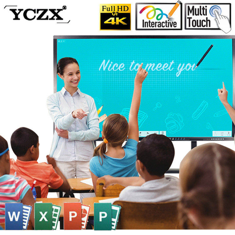 OEM/ODM Guangzhou factoty 4K resolution 86inch electronic white writing board with 4mm armoured glass