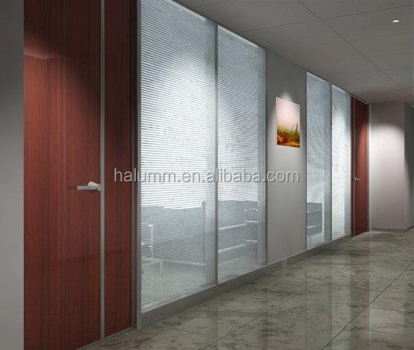 Doble cristal de partici n de oficinas de vidrio templado - Tabique de vidrio ...