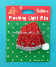 LED christmas Santa Hat glitter light