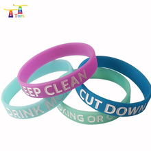 new funny silicon promotional debossed cheap custom rubber wristband