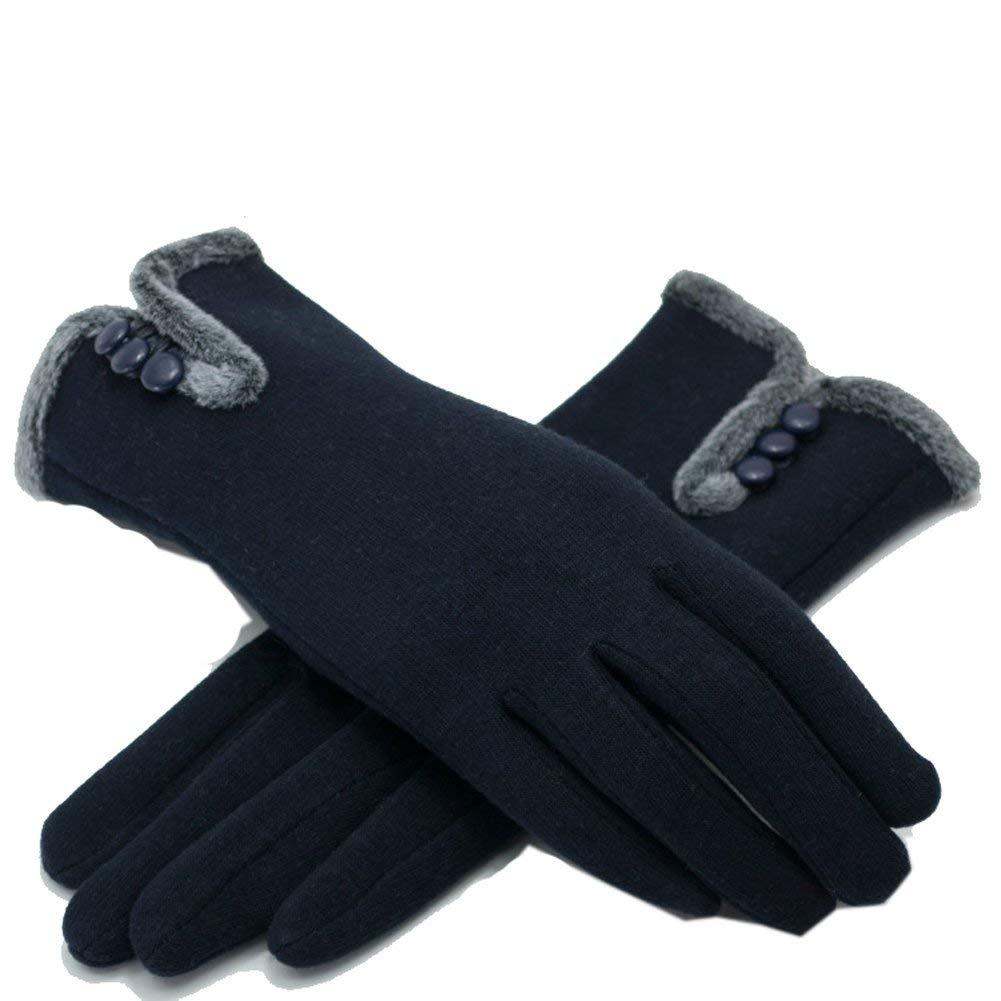 New Kpop Black Pink Women Cute Fleece Gloves Feamle Winter Thick Soft Warmer Mittens Gloves Winter Women's Gloves