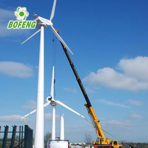 My-test China manufacture rooftop wind turbine10kw horizontal axis wind turbine for sale