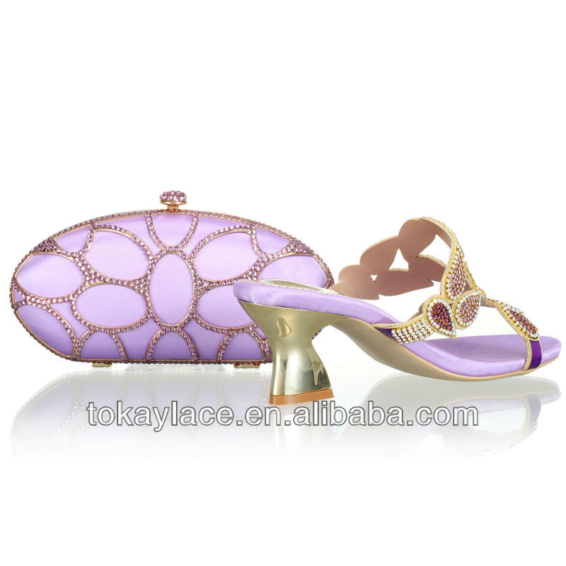 in and African shoe lilac for 2013 wedding wholesale bag set woman 4zqgatxw6