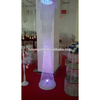 Elegant Tall Metal White Round Columns For Wedding Decoration