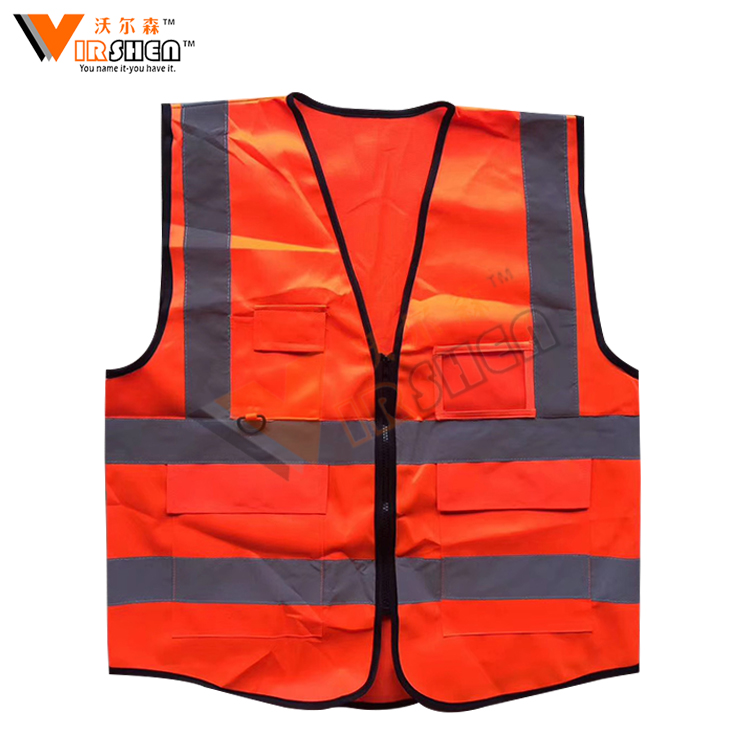 Cheap price color can be customized traffic road 100% polyester safety vest