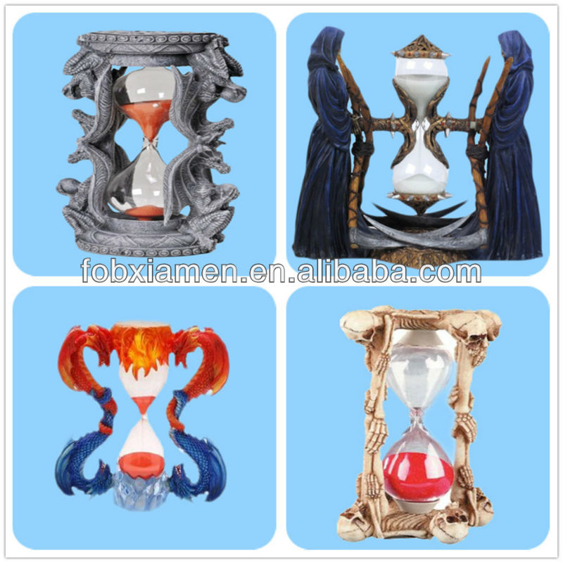 Double Dragon Large Statue Sandglass timer