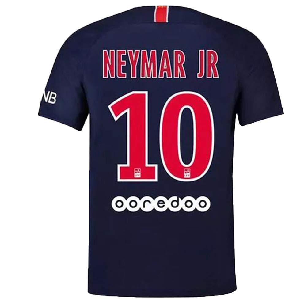 54736a1a5 Get Quotations · Paris St Germain Neymar JR 10  PSG Home Soccer Jersey Mens  18 19 Color