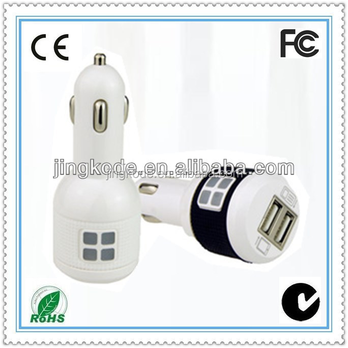 18 W Dual USB port high quality car charger for all kinds of mobile phone