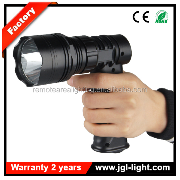 prefessional gun style 810lm handheld JG-T61-600 CREE 10W rechargeable led outdoor searching flashlight